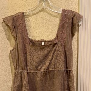 Anthropologie lace top with camisole